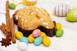 easter dove with chosolate eggs
