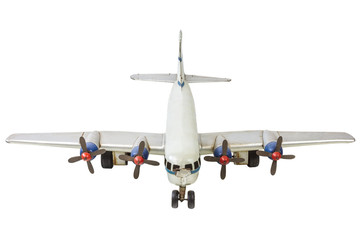 Old generic commercial airplane model isolated on white