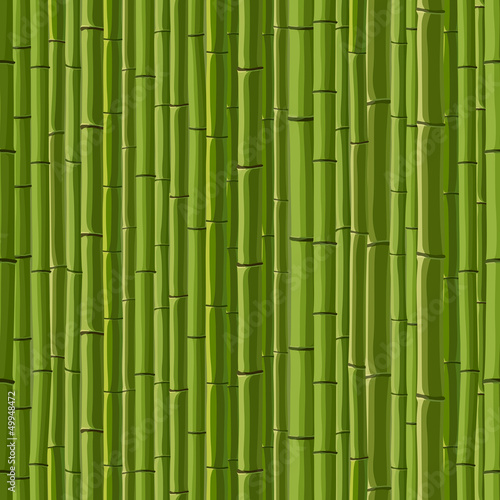 Seamless background of green wall bamboo.