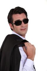 A fashionable businessman.