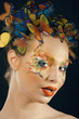 creative make up like butterfly