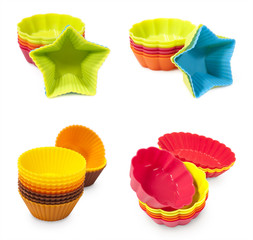 set of moulds for baking muffins