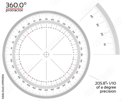360 degree protractor 1/10 precision - 49950656