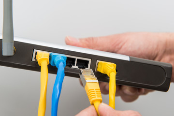 Router, Netzwerkkabel anschließen #bn