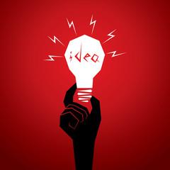 new idea concept men head in bulb