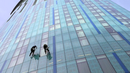 Skyscraper Window Cleaners