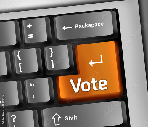 "Keyboard Illustration ""Vote"""