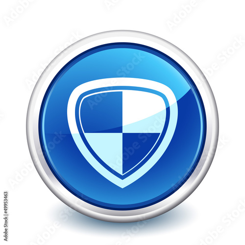 button blue shield