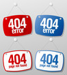404 error signs set