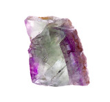 mineral fluorite  isolated on a white background