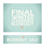 Final winter clearance banners.