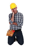 Stressed manual worker
