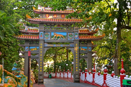 Fotobehang Singapore Haw Par Villa Gardens in Singapore
