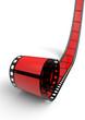 Blanko Filmrolle Rot 03