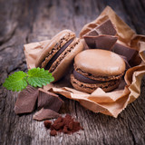 Macarons, Schokolade - 49954820