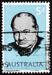 Постер, плакат: Postage stamp Australia 1965 Sir Winston Spencer Churchill