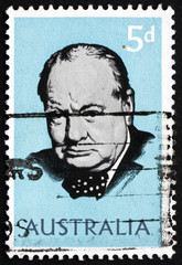 Postage stamp Australia 1965 Sir Winston Spencer Churchill