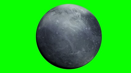 pluto planet with green screen
