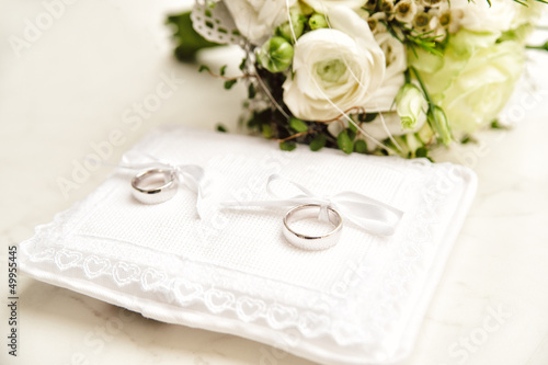 White Pad with Wedding Rings