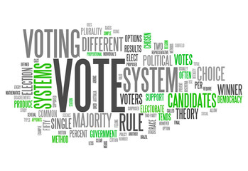 "Word Cloud ""Vote"""