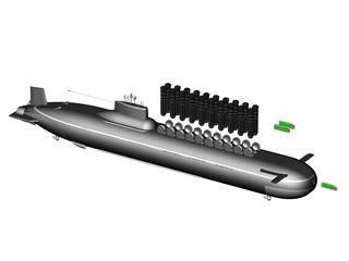 Тяжёлая подводная лодка. Внешний вид