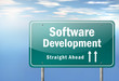 "Highway Signpost ""Software Development"""