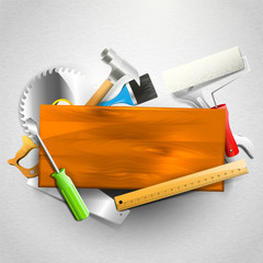 Construction tools  - Carpentry background