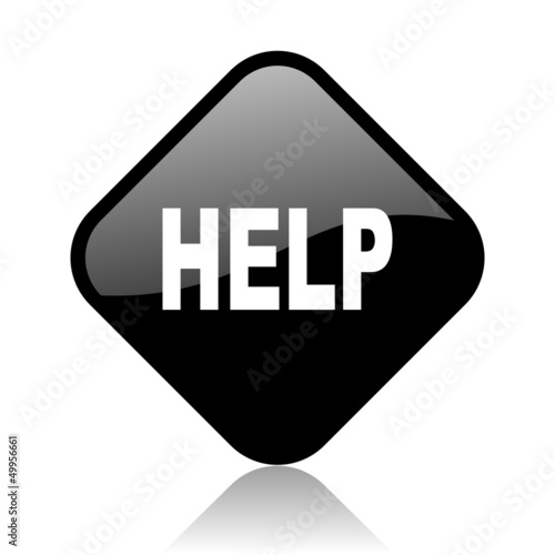 help black square glossy internet icon
