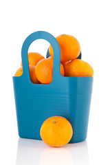 Blue bag tangerines