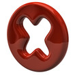 Red cross mark icon