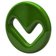 Green tick sign icon