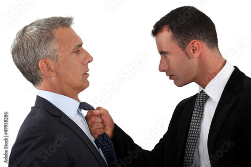 Young man fed-up with his boss