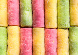 colorful confection background poster