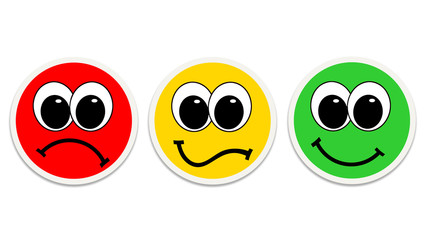 Smiles - red, yellow and green