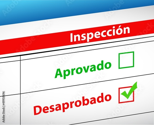 Inspection Results passed or fail