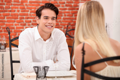 Couple enjoying romantic date