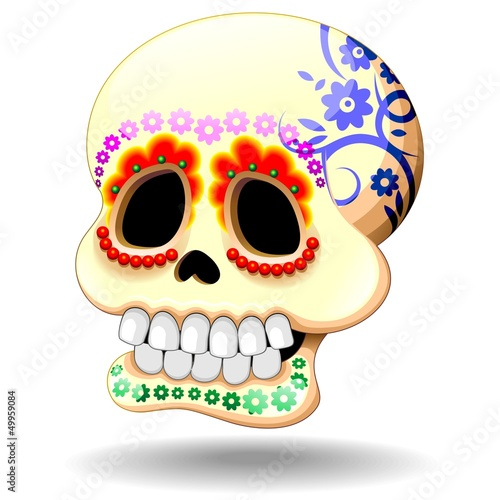 Skull Calaveras Ornamental-Teschio Decorativo Festa dei Morti