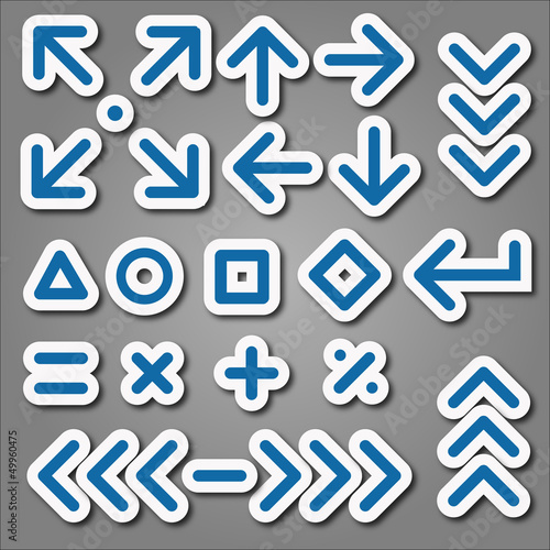 arrows and mathematical signs background