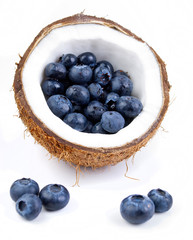 blueberries and coconut