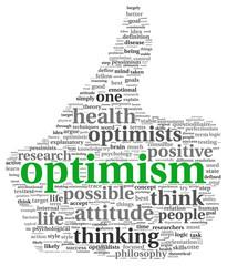 Optimism concept in tag cloud