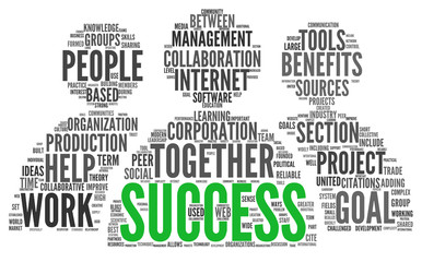 Success concept in tag cloud