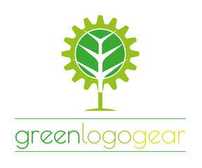 Green logo gear