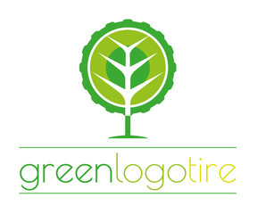 Green logo tire