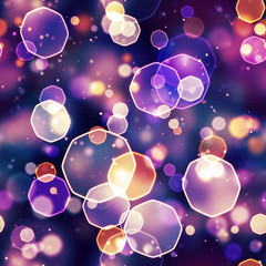 seamless background blue red octagon bokeh lights
