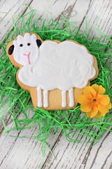 Easter lamb cookie