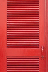 Red vintage wooden door