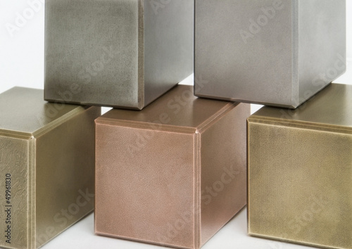metallic cubes