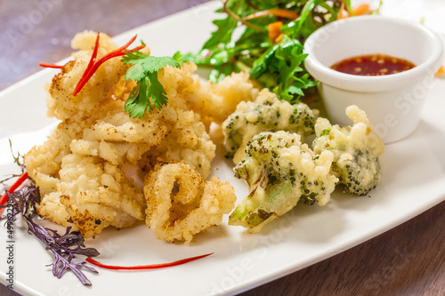 Deep fried squid