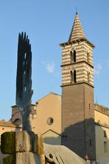 Viterbo - Campanile Chiesa degli Almadiani - Nonumento ai caduti
