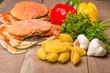 Ingredients for crab pasta